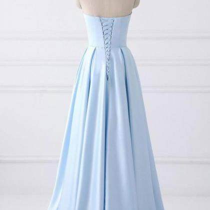 Charming Strapless Lace Up Prom Dre..