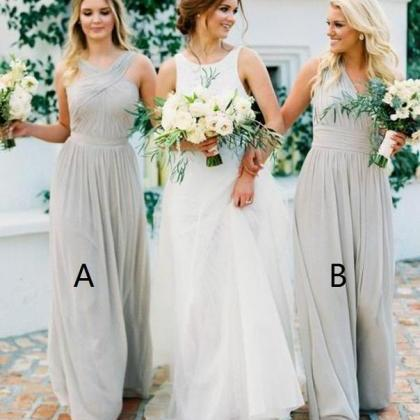 Elegant Chiffon Bridesmaid Dresses,..