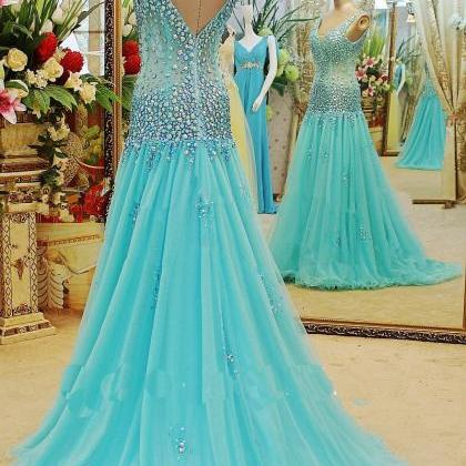 Charming Crystal Evening Dress,P..