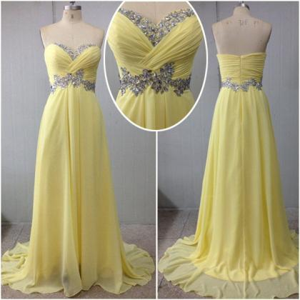 New Arrival Yellow Prom Dresses, S..