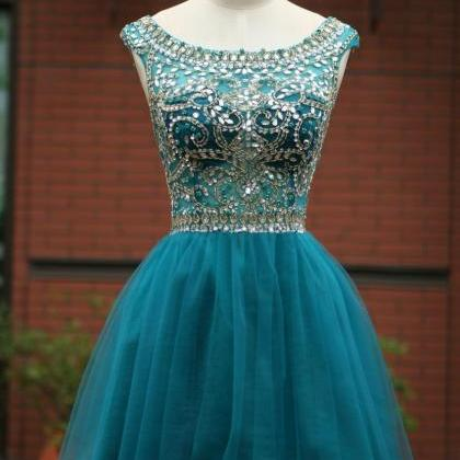 Open Back Beading Homecoming Dresse..