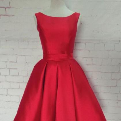 Charming Light Red Homecoming Dress..