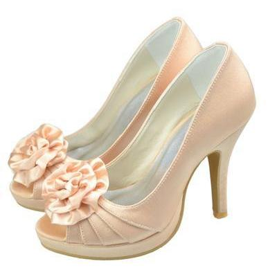 Pretty Champagne Elegant High Heel ..