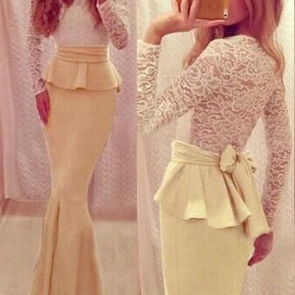 Lovely Long Sleeves Prom Dresses,Da..