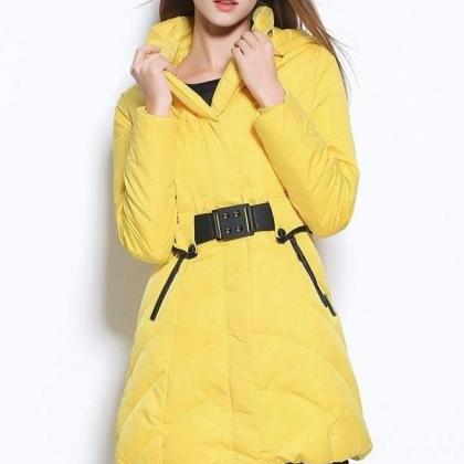 Newest Winter Coats,Yellow Long Sty..