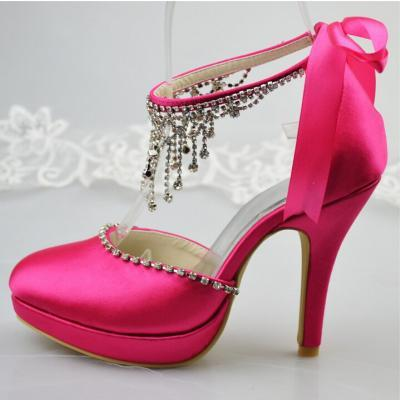 Fashion Super Stiletto High-Heeled Peep-Toe Strap Platform ,Satin Thin Heels Close Toe Party Shoes,wedding shoes