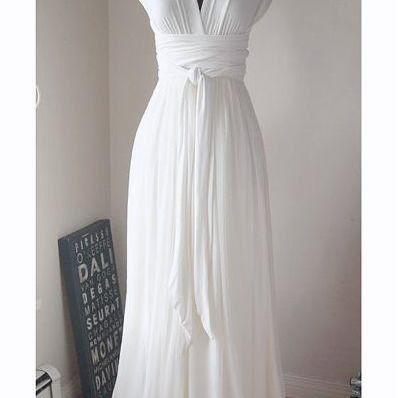 New Design Prom Dresses, The Charming White Evening Dresses, Prom Dresses, Real Made Prom Dresses On Sale,Simple Wedding Dresses DR0396
