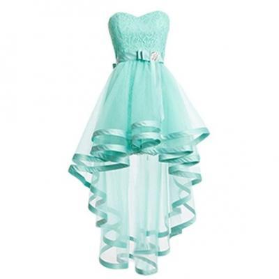 Mint Tulle Homeocming Dresses For Teens,Pretty Cheap Simple Short Prom Dresses,Lace Cocktail Dresses DR0197