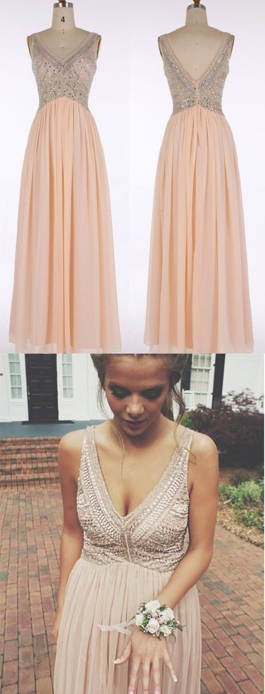 V-neck Prom Dress,Prom Dresses,Pink Prom Dresses,Chiffon Prom Gowns,Cute Party Dresses,Long Prom Dresses,Prom Dresses For Teens,Women Dresses,Cheap Prom Dresses,Graduation Dresses DR0184
