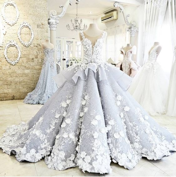 Pretty Ball Gown Prom Dresses,Princess Wedding Dresses,Modest Wedding Dress.Evening Dresses,Bridal Dresses DR0341