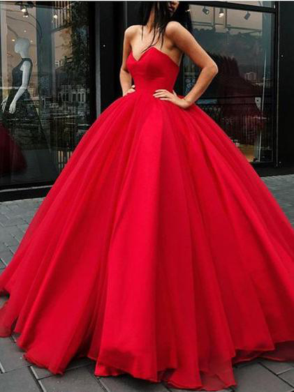Ball Gown Prom Dresses,Floor-length