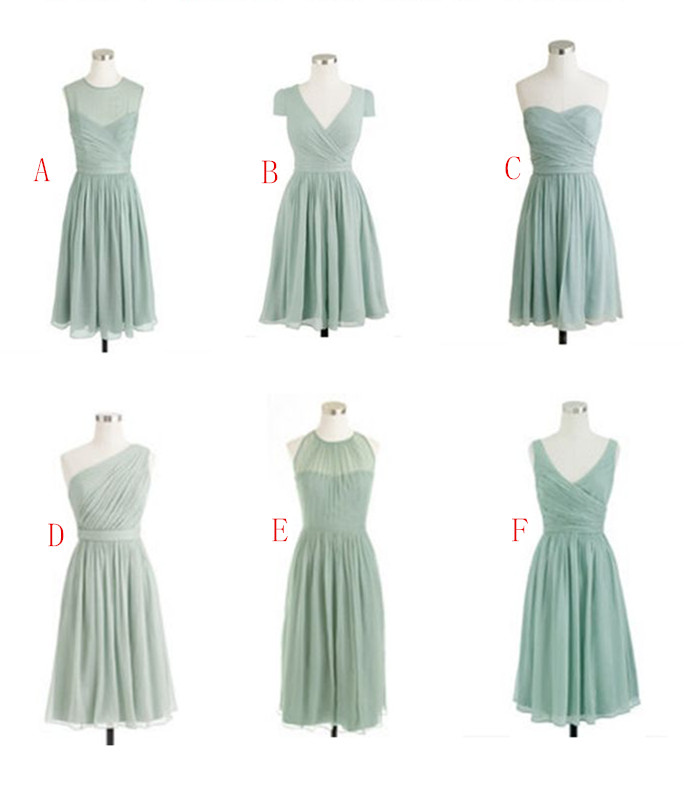 New Fashion Bridesmaid Dresses, Knee-Length Bridesmaid Dresses, Bridesmaid Dresses, Chiffon Bridesmaid Dress,Bridesmaid Dresses For Wedding