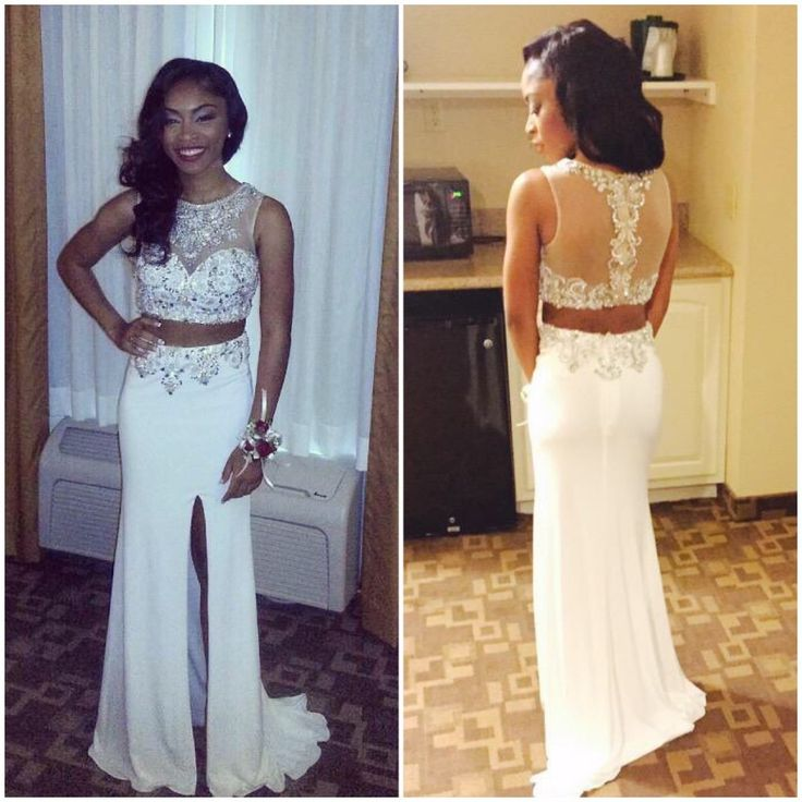 f72fa6dc86 Two Pieces Charming Prom Dresses