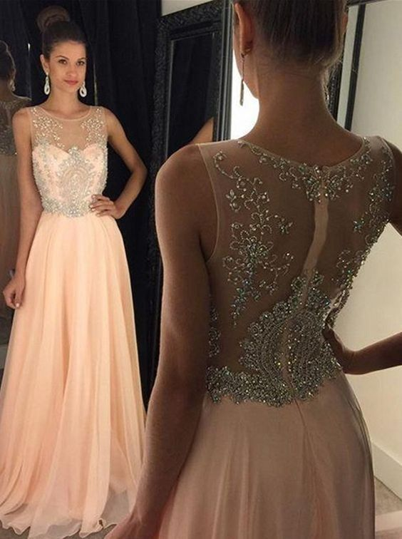 776dd486b0 Newest Long Cap Sleeves Beading Prom Dresses