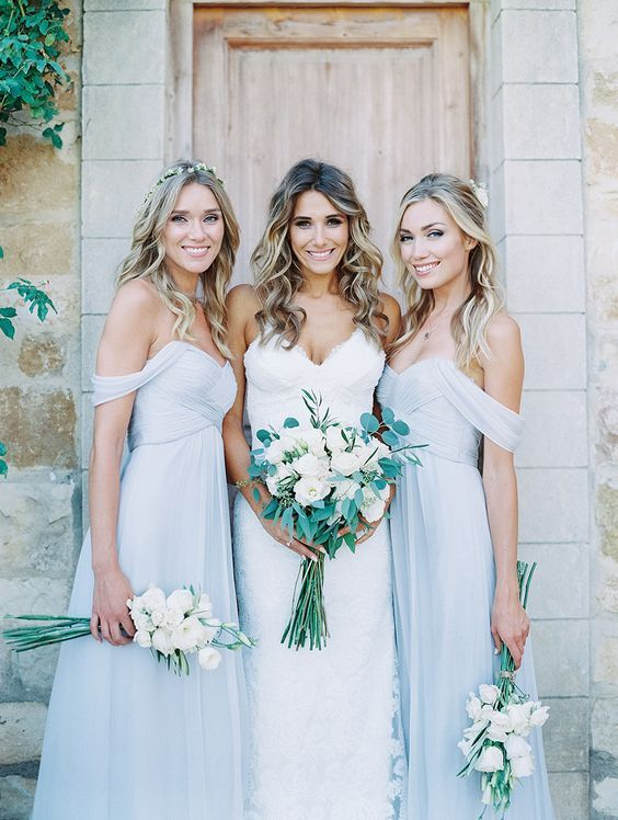 cb6b694849d3 2016 Elegant Baby Blue Long Bridesmaid Dresses