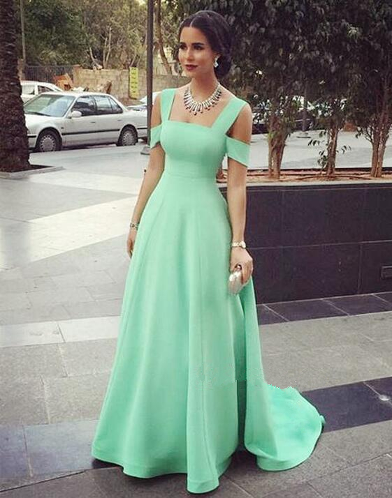 Cute Simple Elegant Prom Dresses,A-line Long Mint Prom ...