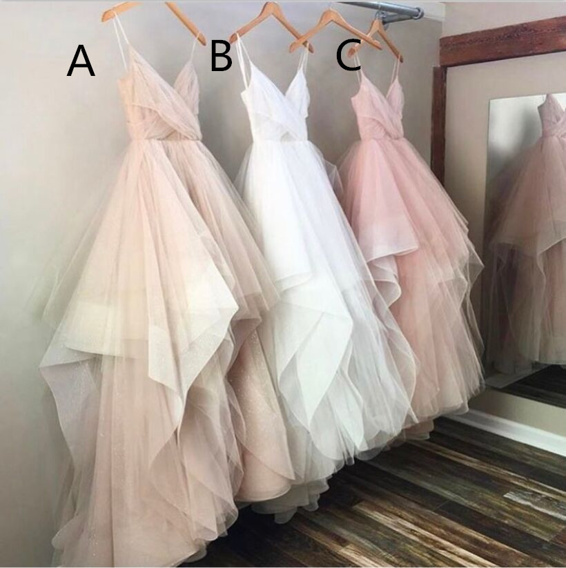 Spaghetti Straps Long Prom Dresses,Tulle Prom Dresses,Long Prom Dresses,Evening Dresses,Simple Cheap Prom Dress,Plus Size Prom Gowns,Party Dresses DR0548