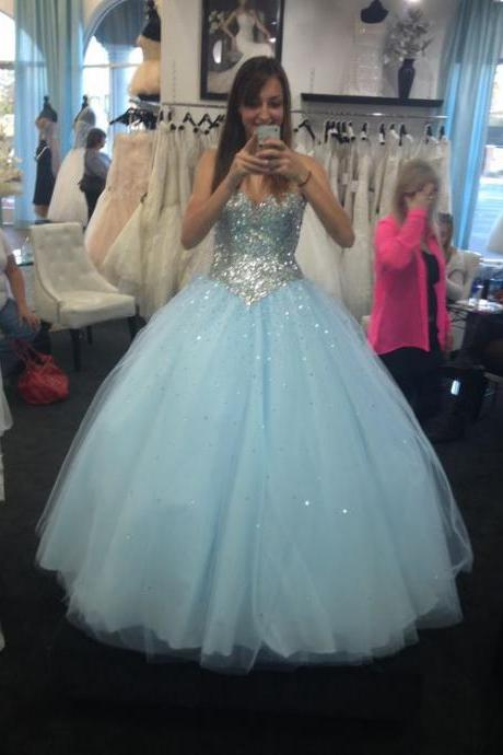 Ball Gown Prom Dresses,Long Prom Dresses,Quinceanera Dresses,Prom Dresses For Teens,Princess Dresses,Disney Dresses,Evening Dresses,Prom Gowns,Light Blue Prom Dresses DR0053