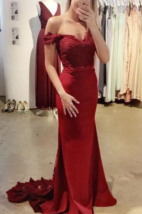 Lace Prom Dresses,Burgundy Prom Dresses,Mermaid Prom Dresses,Long Prom Dresses,Elegant Prom Gowns,Sparkly Prom Dress,Prom Dresses For Teens,Modest Evening Dresses,Backless Party Dresses DR0071