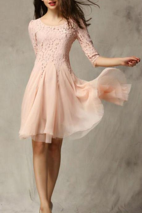 Homecoming Dresses,Real Beautiful Homecoming Dresses,Lace Homecoming Dresses,Sweet 16 Dresses,Pink Homecoming Dresses,Elegant Homecoming Dress,Modest Homecoming Dresses,Party Dresses,Cocktail Dresses,Short Prom Dresses DR0140