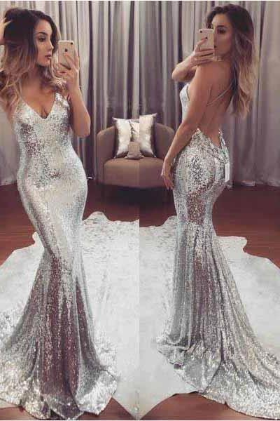 Silver Prom Dresses,Mermaid Prom Dresses,Sparkly Prom Dresses Backless Prom Dress,Long Prom Dresses,Prom Gowns,Sexy Prom Dresses,Modest Evening Dresses,Prom Dresses,Prom Dresses For Teens,Women Dresses,Sweet 16 Dresses DR0160