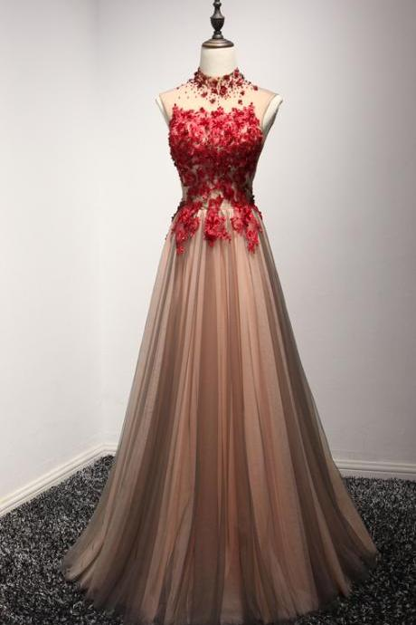 High Neck Prom Dresses,Tulle Prom Dresses,Long Prom Dresses,Lace Prom Gowns,Prom Dresses,Prom Dresses For Teens,Open Back Prom Dress,Evening Dresses,Evneing Gowns,Cute Dresses Sparkly Prom Dresses,DR0212