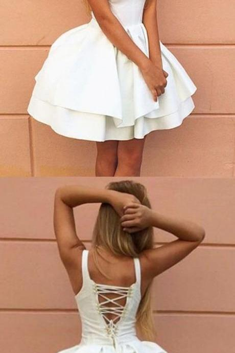 Ivory Homecoming Dress,Cute Dress,Princess Dress,Vintage Homecoming Dresses,Homecoming Dress,Homecoming Dresses DR0299