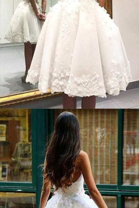 Strapless Homecoming Dress,Ivory Homecoming Dress,Short Homecoming Dresses,Cute Dress,Backless Homecoming Dress,Homecoming Dresses DR0300