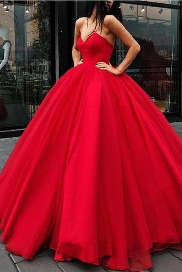Ball Gown Prom Dresses,Floor-length Sweetheart Quinceanera Dresses,Lace-up Red Sexy Long Big Prom Dress,Quinceanera Dresses,Prom Dresses DC120