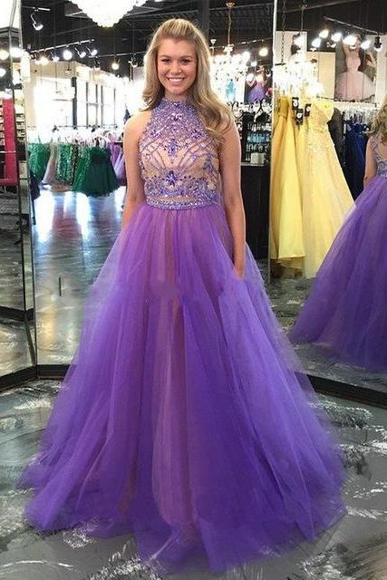 Purple Long Prom Dresses,Evening Dresses,Floor-Length Prom Dresses,Charming Prom Dress,Evening Dresses On Sale