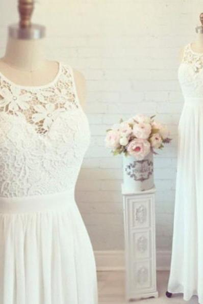 2016 White Simple Cheap Lace Wedding Dresses,Elegant Prom Dresses,Long Evening Dresses,Cap Sleeves Prom Dress For Teens