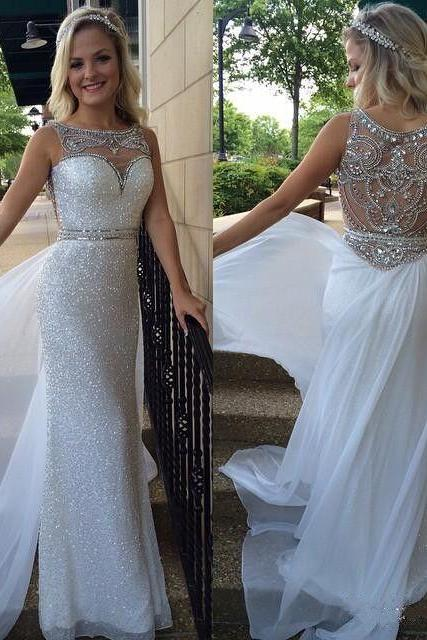 Top Selling Sequin Shiny Long Chiffon Prom Dresses,Beading Evening Dresses,Beautiful Prom Gowns DR0451