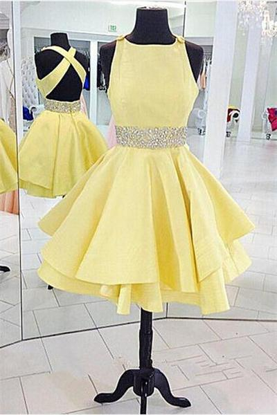 New Arrival Top Selling Handmade Homecoming Dresses,Open Back Shoes Homecoming Dress,Pretty Graduation Dresses