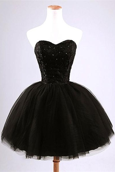 Simple Black Short Homecoming Dresses,Gorgeous Homecoming Dresses,Pretty Cocktail Dress