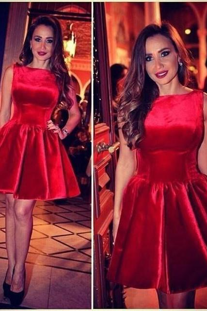 Sexy Light Red Homecoming Dresses,Simple Handmade Cocktail Dresses,High Low Homecoming Dress 2016