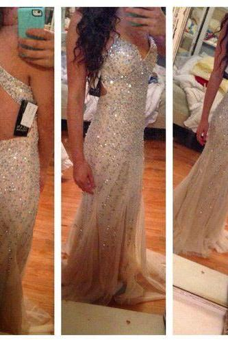 Charming Sequin Shiny Prom Dresses,2016 Sexy Mermaid Prom Dress,Formal Evening Dresses,Party Prom Gowns
