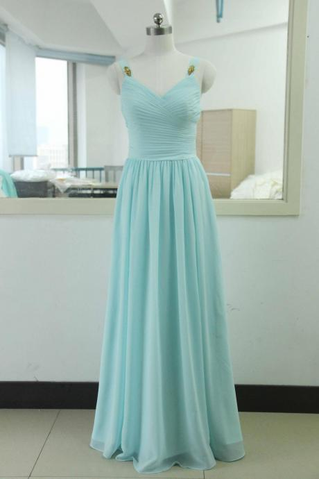 Classy Elegant Long Chiffon Prom Dresses,Charming Party Gowns,Handmade Evening Gowns