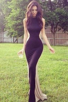 Sexy Long Mermaid Prom Dresses,Smple Handmade Prom Dress,Pretty Evening Gowns