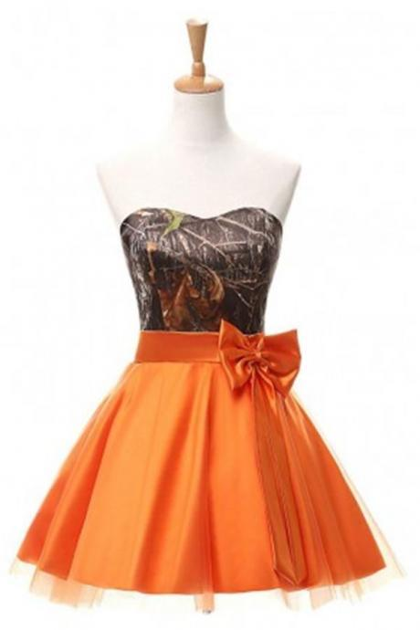 Simple Sparkly Orange Homecoming Dresses,Cute Homecoming Dress,Pretty Cocktail Dresses,Short Prom Dresses