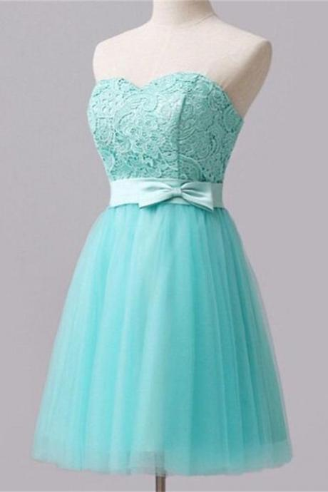 Elegant Lace Homecoming Dresses,Sweetheart Short Homecoming Dress