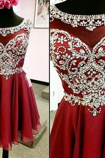 Red Pretty Short Prom Dresses,Party Dresses,Sparkly Homecoming Dresses,Charming Homecoming Dresses For Teens