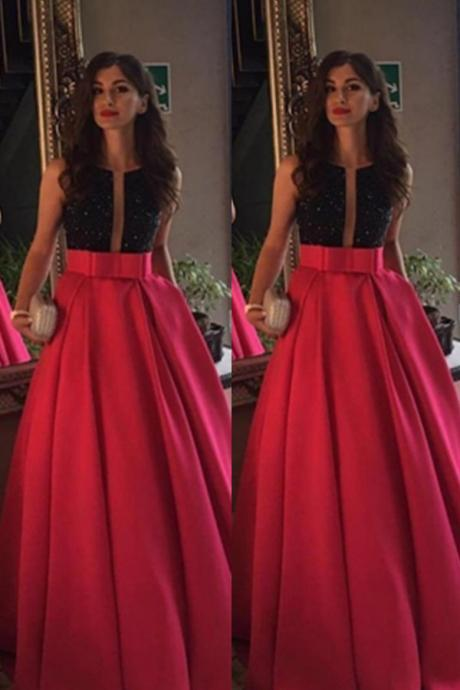Red Prom Dresses,A-line Prom Dresses,Backless Prom Dress For Teens,Modest Prom Gowns,Pretty Evening Dresses,Charming Party Dresses