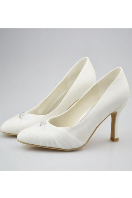 Ivory Shoes,Handmade Simple Shoes,High Heels,Close Toe Shoes,Wedding Shoes,Party Shoes