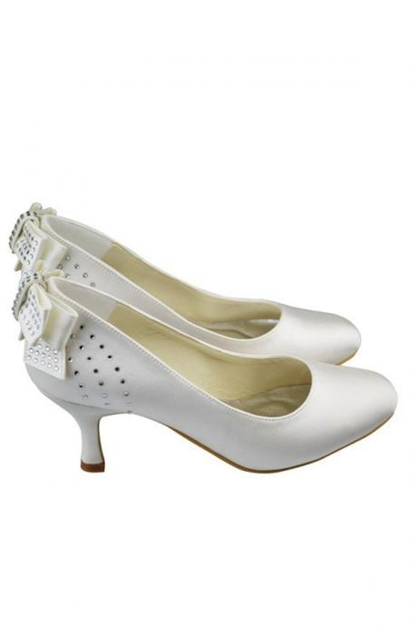 Beading Shoes,Comfy Shoes,Cheap Shoes,Satin Shoes,Cute Shoes With Bow