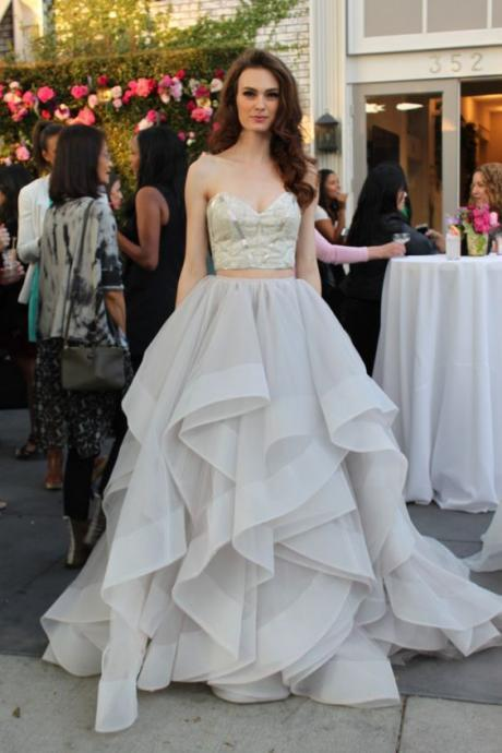 Charming Grey Prom Dresses For Teens,Two Pieces Sweeteart Prom Gowns,Quinceanera Dresses,Elegant Evening Dresses