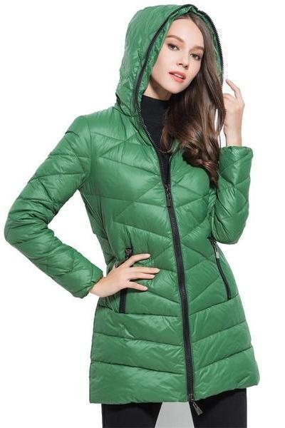 Green Long Winter Coats,Cheap Europe Style Down Coats,Warm Women Down Jackets