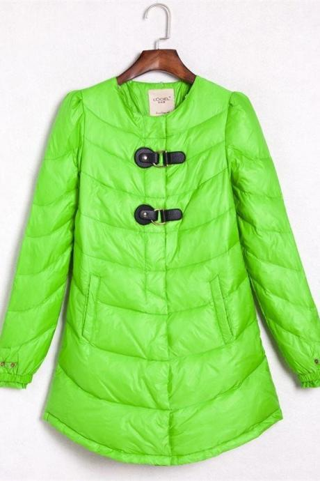 Simple Comfy Warm Long Style Green Outdoor Down Jackets,Pretty Winter Coats,Down Coats