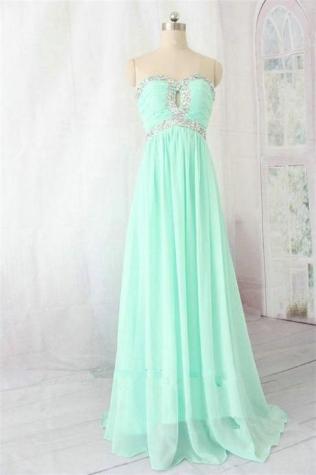 Strapless Chiffon Prom Dresses,Beading Elegant Prom Dresses,High Low Evening Dresses,Party Dresses,Graduation Dresses