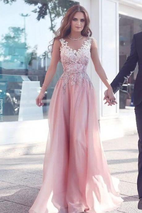 Beautiful Prom Dresses,Pink Prom Dresses,Prom Dresses FOr Teens,Lace Prom Dress,Long Prom Dresses,High Low Prom Gowns,V-neck Prom Dresses,Evening Dresses,Modest Party Dresses,Women Dresses