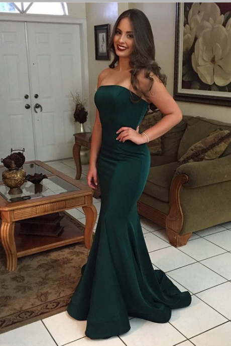 Bridesmaid Dresses,Green Prom Dresses,Mermaid Prom Dress,Strapless Prom Dress,Backless Prom DressesSimple Cheap Prom Dresses,Evening Dresses,Prom Gowns